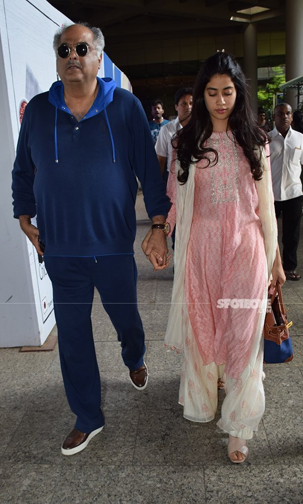 Boney Kapoor And Janhvi Kapoor