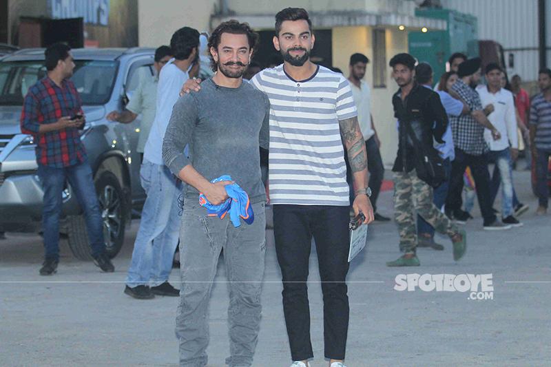 aamir khan and virat kohli shoot for an episode
