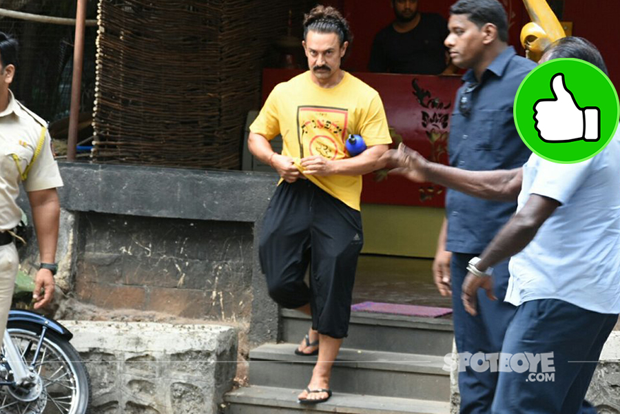 aamir khan snapped post spa session