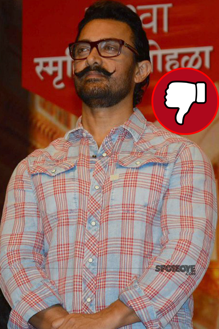 aamir khan spotted at an award function
