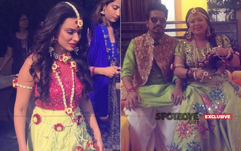 Bharti Singh & Aashka Goradia GLOW Like Perfect Brides On Their Mehendi Ceremonies