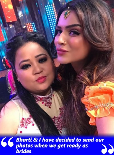 aashka goradia and bharti singh to be brides on same day