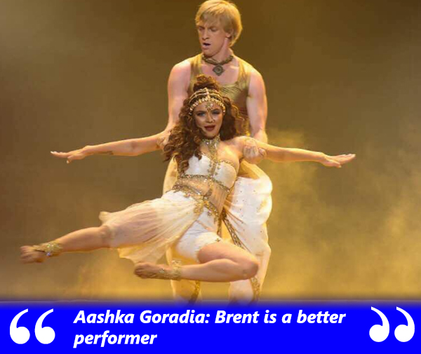 aashka says that brent is a better performer