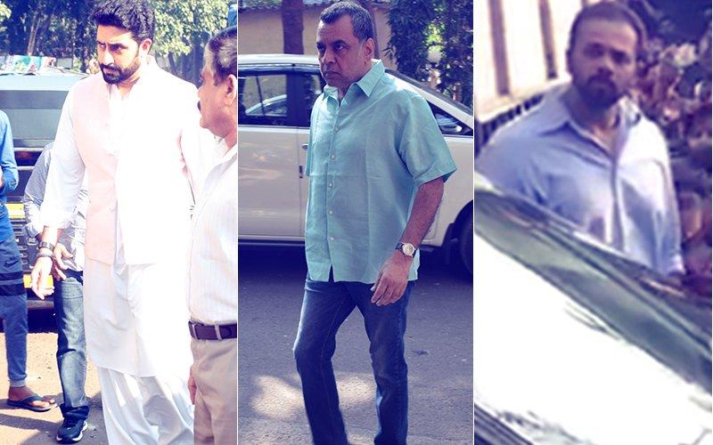 Abhishek Bachchan, Paresh Rawal, Rohit Shetty Attend Neeraj Vora's Cremation