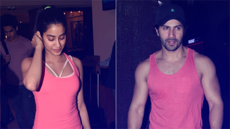 Telepathy At Work? Janhvi Kapoor & Varun Dhawan Are Completely Colour Coordinated This Evening
