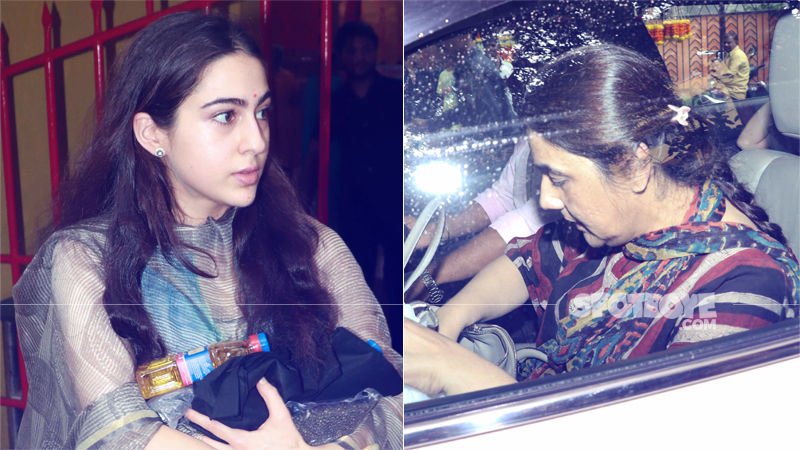 Sara Ali Khan Prays At Famous Mukteshwar Temple With Mom Amrita Singh