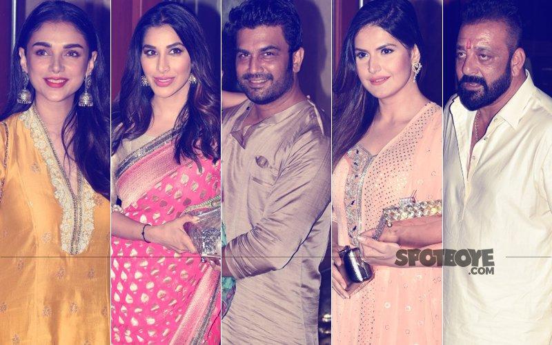 Aditi Rao Hydari, Zareen Khan, Sophie Choudry, Sharad Kelkar Grace Sanjay Dutt's Ganpati Festivities