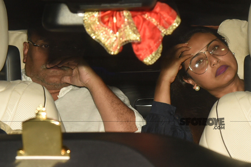 aditya chopra and rani mukerji snapped outside karan johar house