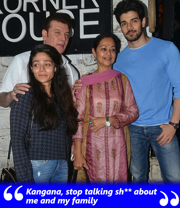aditya pancholi with his family