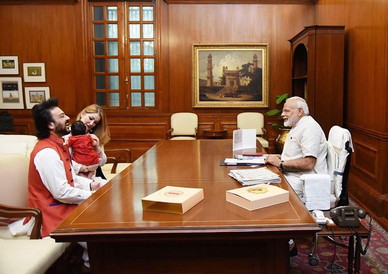 adnan sami meets prime minister narendra modi