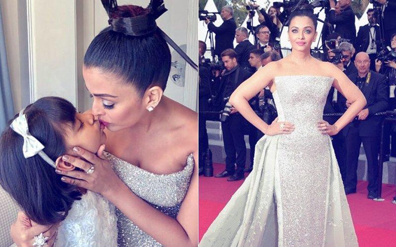 Cannes 2018: Aishwarya Rai's Adorable Kiss To Aaradhya Before Walking The Red Carpet