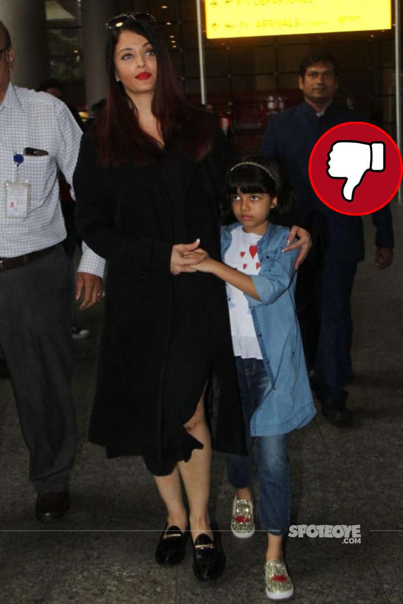 aishwarya rai bachchan at the airport