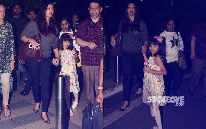 PICS: Aishwarya Rai Bachchan Snapped With Aaradhya At The Mumbai Airport