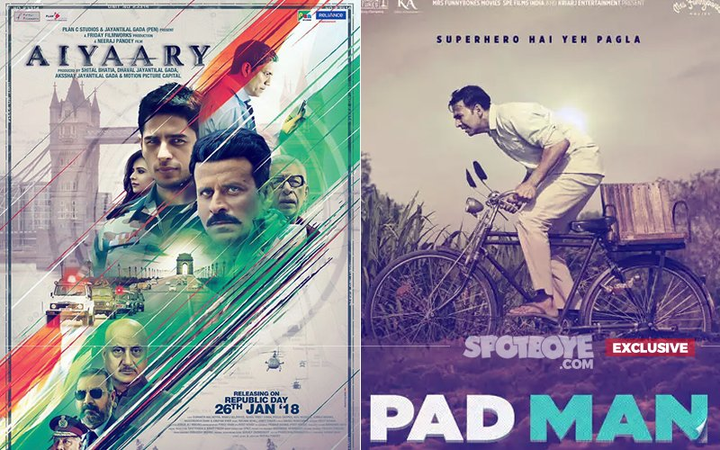 CONFIRMED: Aiyaary POSTPONED To February 16; Akshay Kumar's Pad Man Goes Solo This Friday