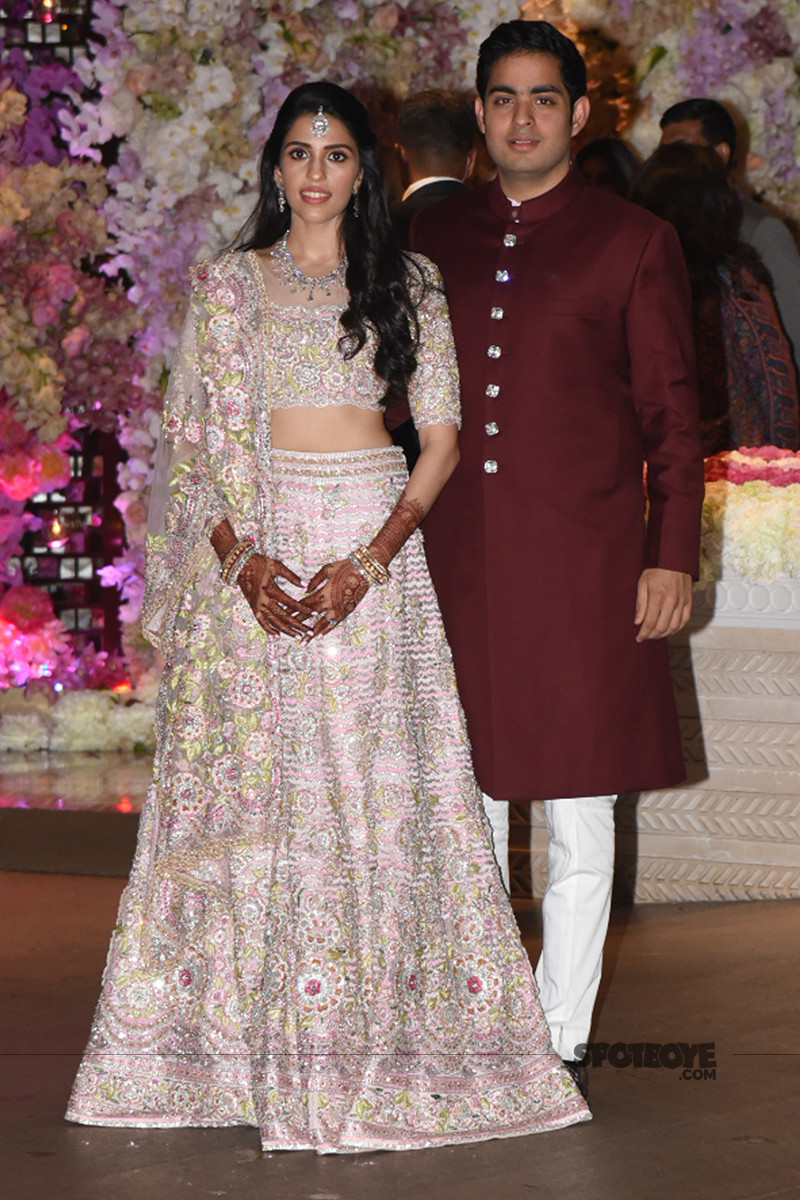 akash ambani with shloka mehta