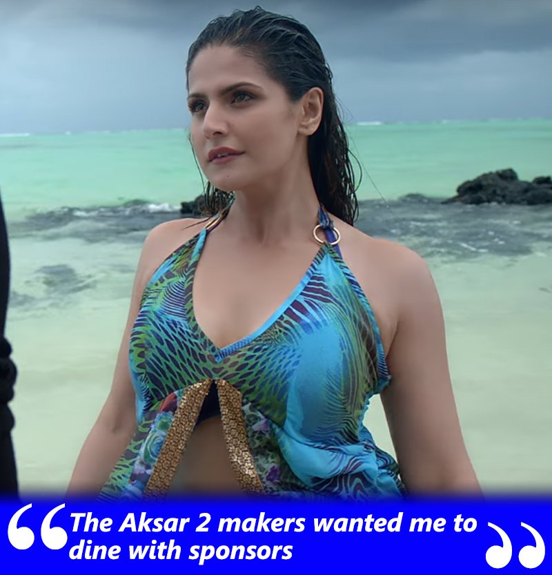 aksar 2 makers wanter zareen khan to dine with sponsors