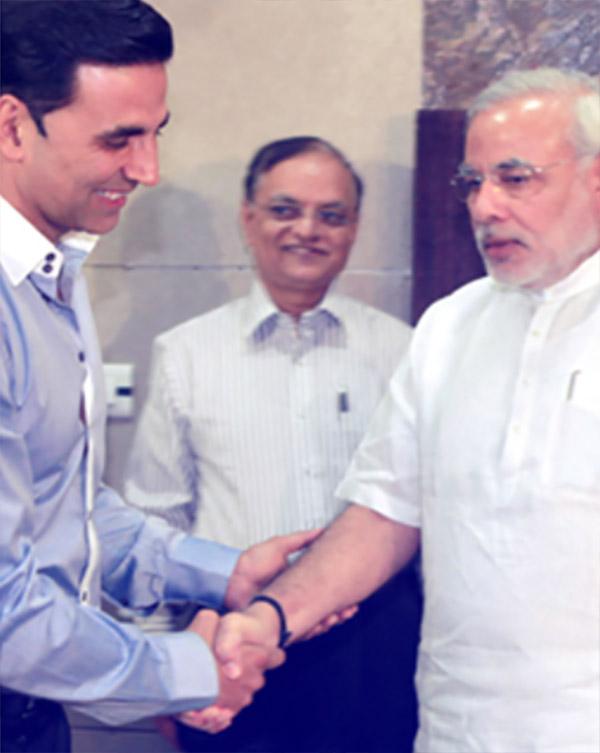 akshay kumar with narendra modi