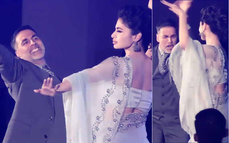Video: Akshay Kumar & Mouni Roy's Energetic Tabletop Dance At Gold Song Launch