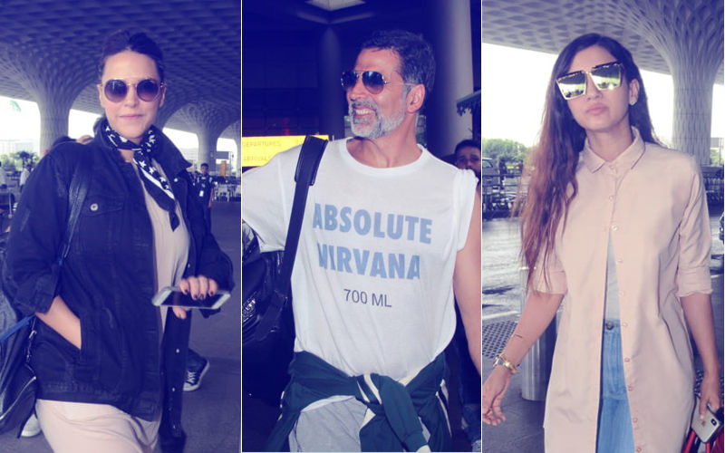 Airport Diaries: Akshay Kumar, Neha Dhupia, Gauahar Khan Travel In Style