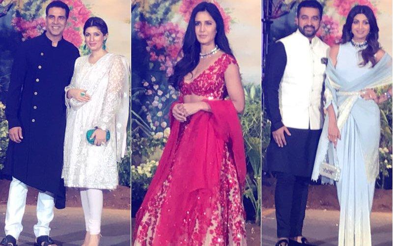 Sonam Kapoor Reception Akshay Kumar Twinkle Khanna Katrina Kaif