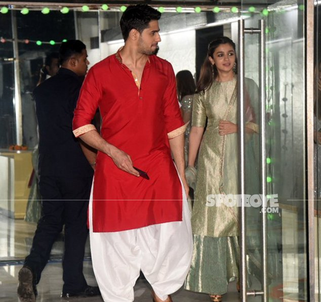 alia bhatt and sidharth malhotra spotted at sanjay kapoors bash together