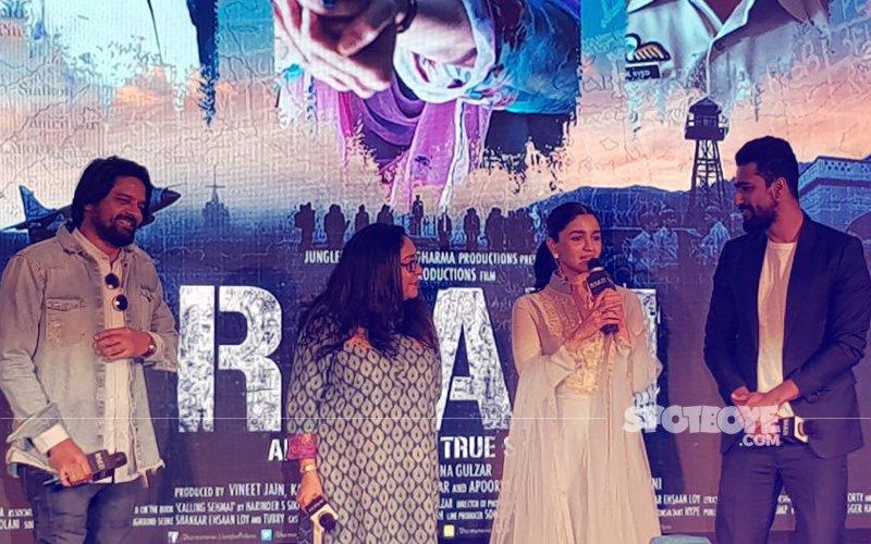 Alia Bhatt, Vicky Kaushal & Meghna Gulzar Launch Ae Watan From Raazi