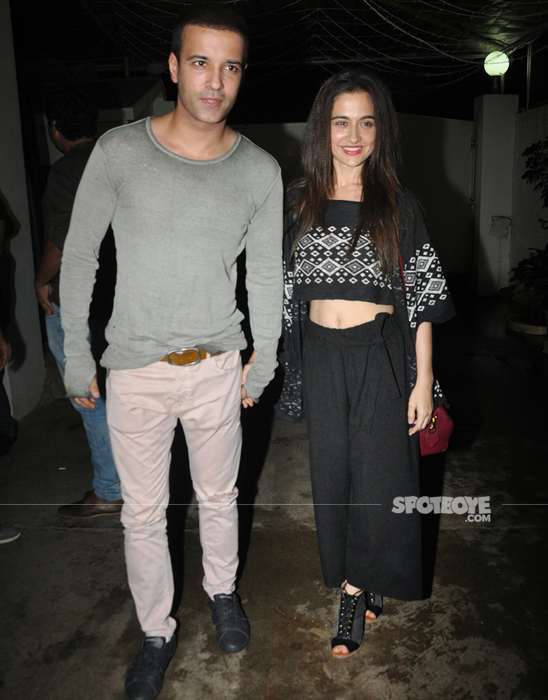 amir ali and sanjeeda sheikh at simran screening