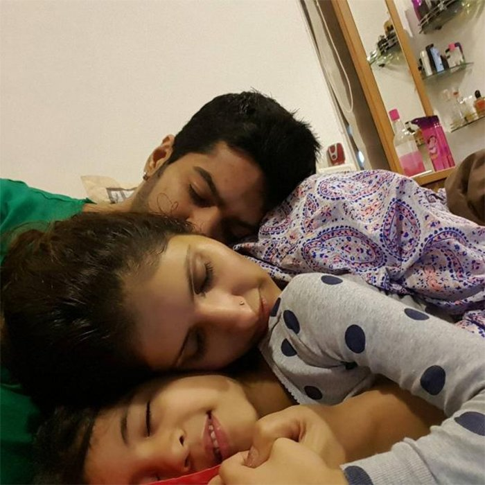 amit tandon ruby tandon and daughter jiyana