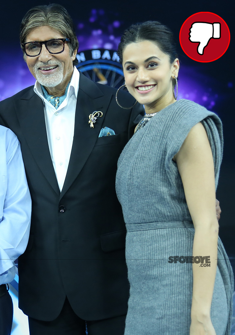 amitabh bachchan and taapsee pannu on the set of kaun banega crorepati