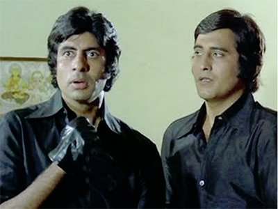 amitabh bachchan and vinod khanna during the start od their career