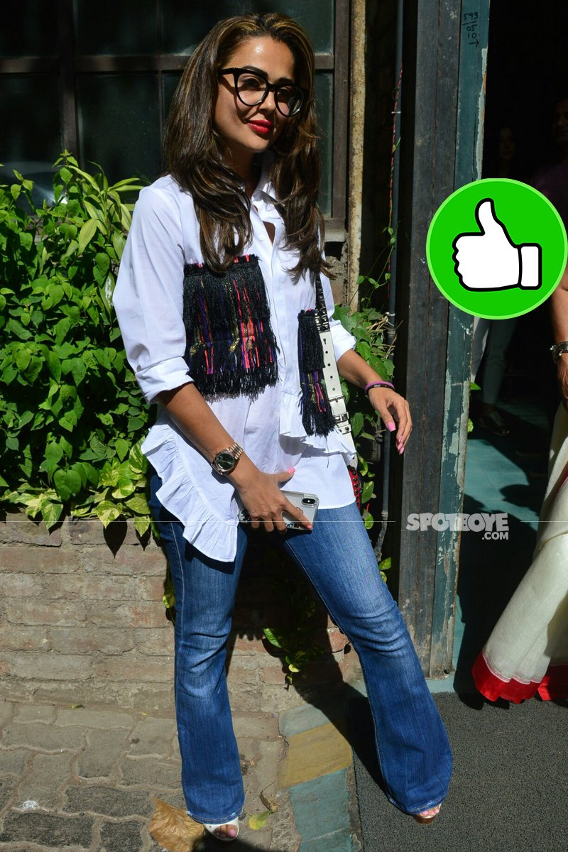amrita arora snapped post lunch