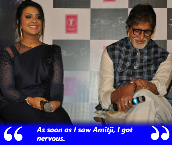 amruta fadnavis says she was nervous as soon as she saw amitabh bachchan
