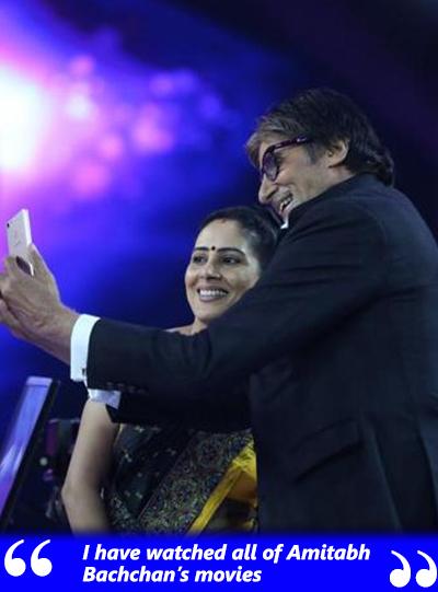 anamika majumdar takes a selfie with amitabh bachchan