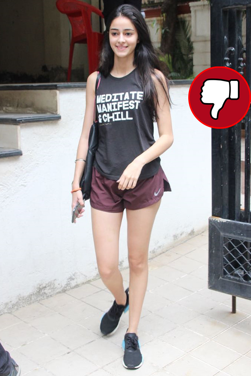 ananya pandey snapped post gym session
