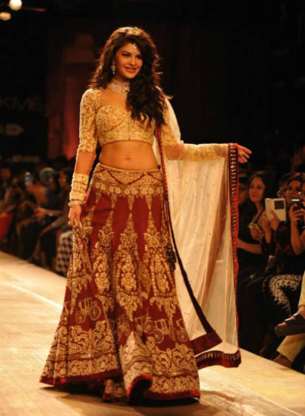 and boy jacqueline looks just as ethereal in desi wear too