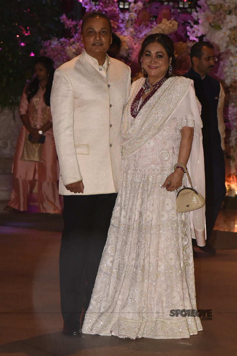 anil and tina ambani arrive for the bash