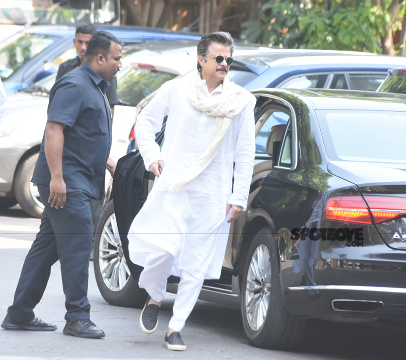 anil kapoor at rani mukerji s father prayer meet