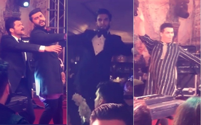 Dance Revelry Begins At Sonam's Reception: Anil-Arjun-Ranveer Shake A Leg; Karan Dances To Prem Ratan Dhan Payo