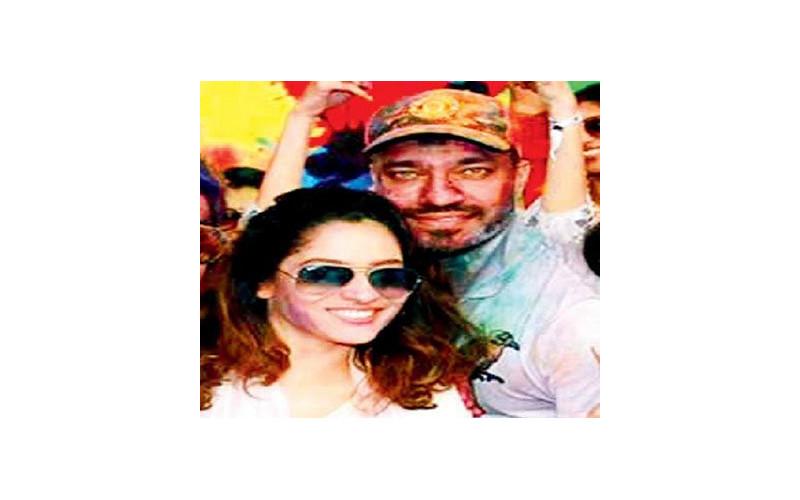 ankita lokhande with vicky jain at the holi party