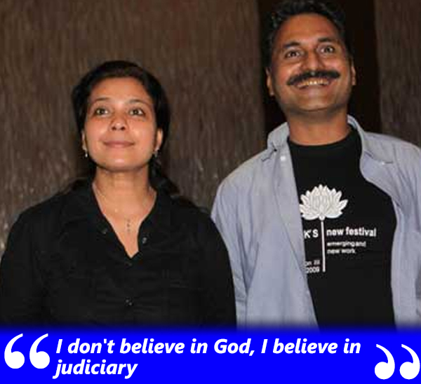 anusha rizvi and husband mahmood farooqui