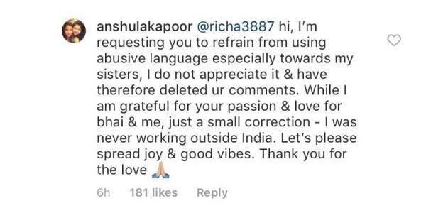 anushala kapoor slams the troll