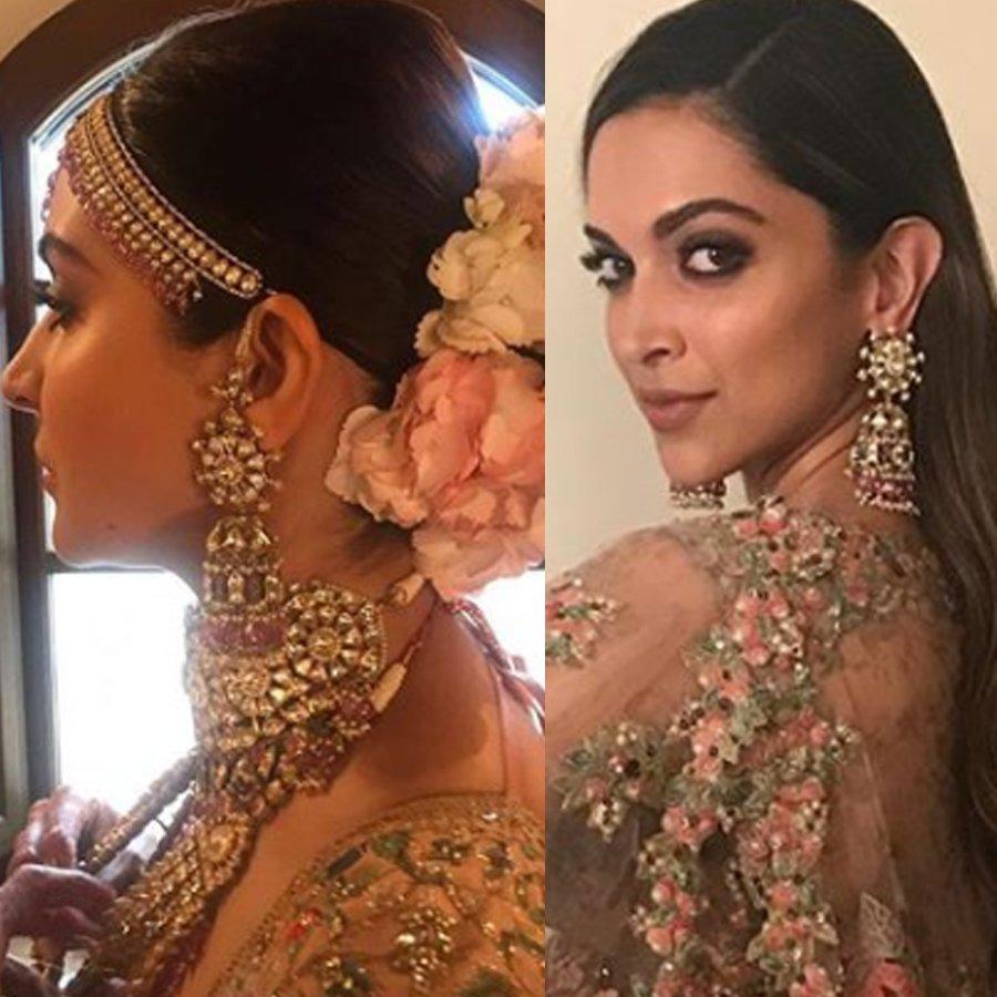 anushka sharma and deepika padukone wear the same earring