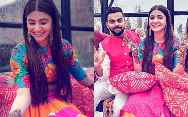 Mehndi Ceremony Outfits : Virat anushka s mehendi ceremony mrs kohli wanted a boho