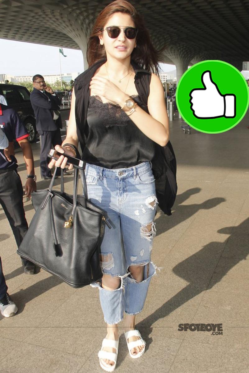 anushka sharma mumbai airport