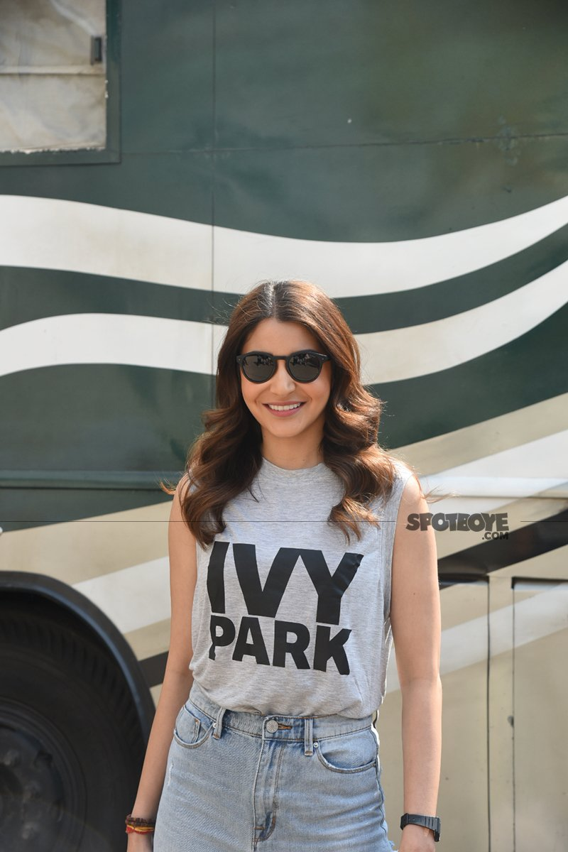 anushka sharma shoots for an ad