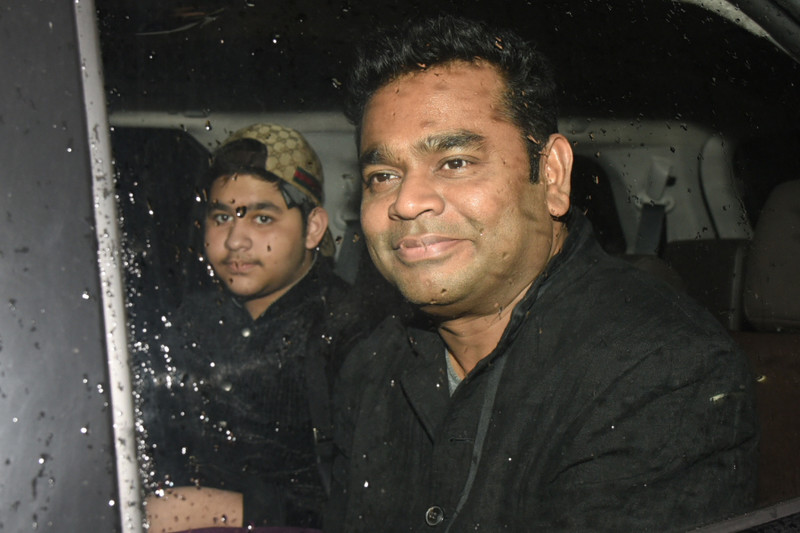 ar rahman poses for the media