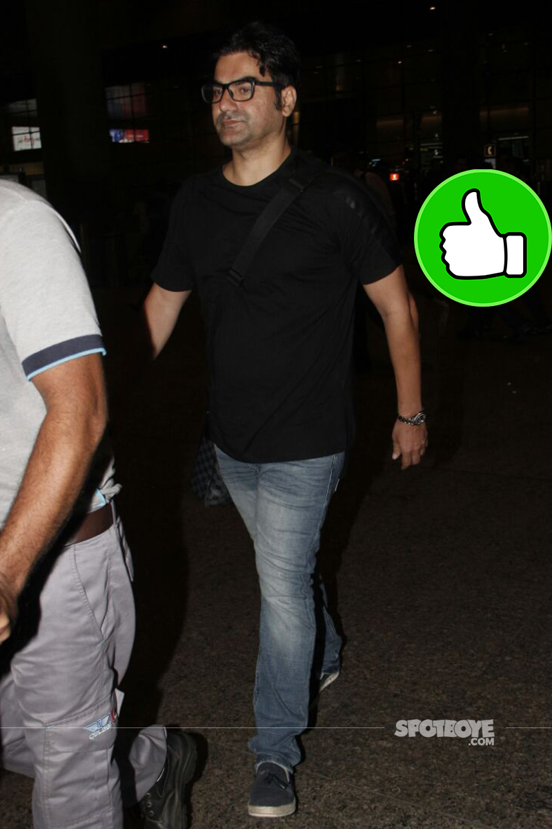 arbaaz khan at the airport