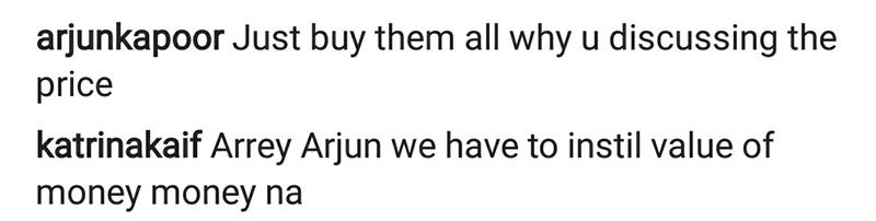 arjun kapoor hilarious comment on katrinas video