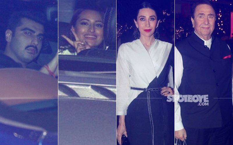 Arjun Kapoor, Sonakshi Sinha,  Karisma Kapoor, Randhir Kapoor Spotted At The Launch Of Prithvi Theatre Festival 2017