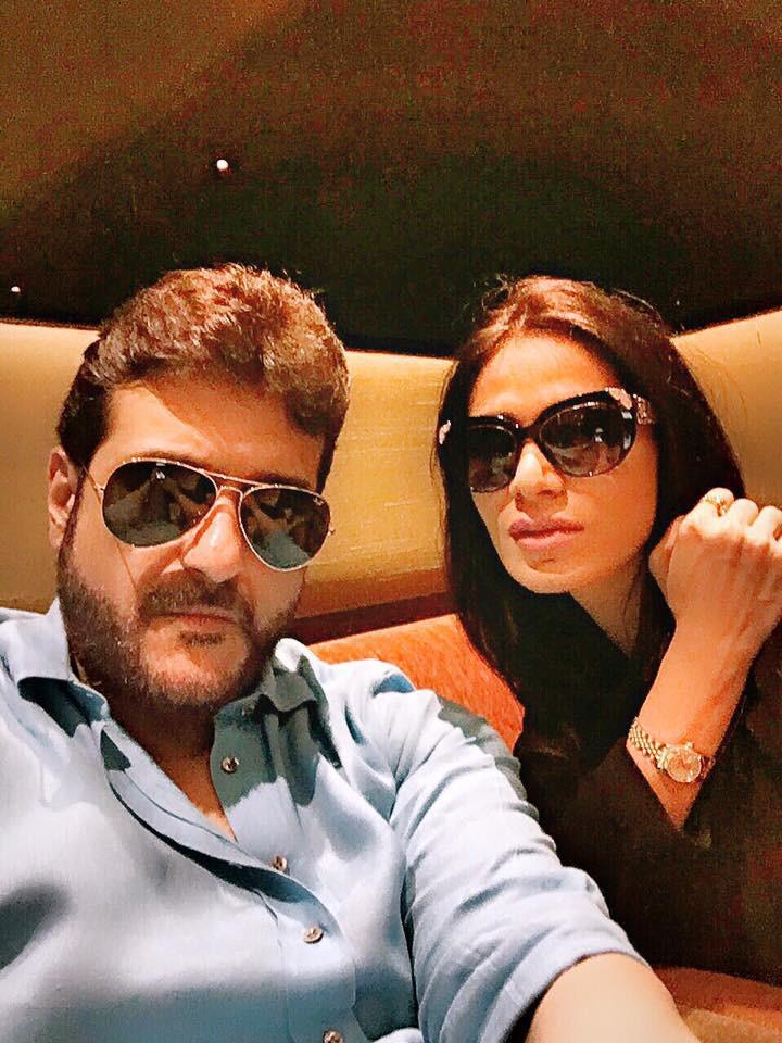 armaan kohli and neeru randhawa pose for a selfie